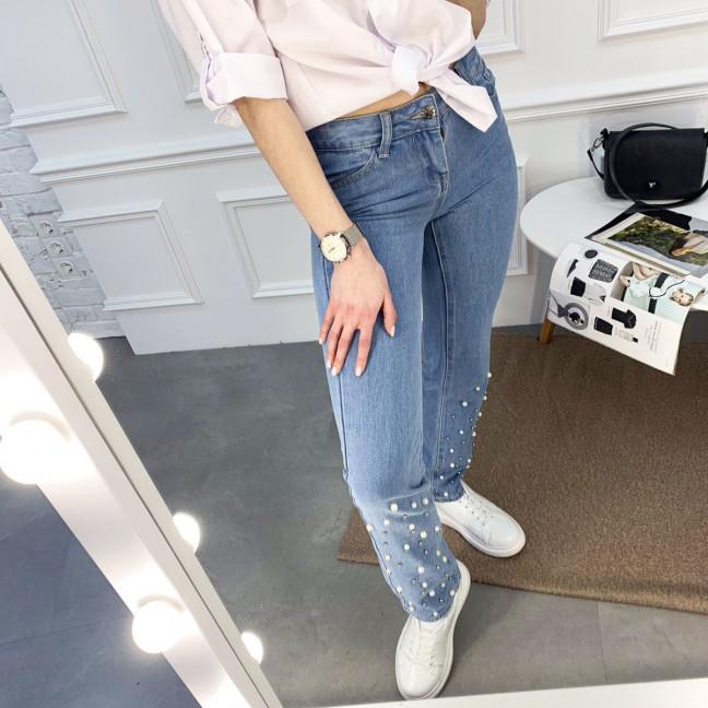 0061 Jushioumfiva джинсы женские голубые котоновые ( 6 ед. размеры: 25.26.27.28.29.30) Jushioumfiva: артикул 1119588