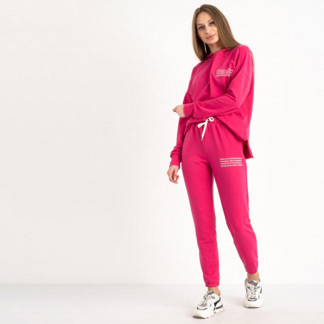 15115-27 Mishely малиновый женский спортивный костюм из двунитки  (4 ед. размеры: S.M.L.XL) Mishely: артикул 1122107