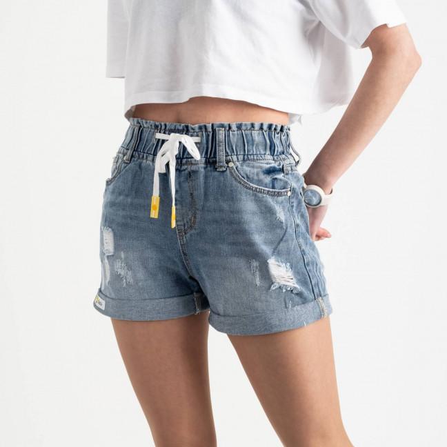 0701 New Jeans шорты джинсовые голубые котоновые (6 ед. размеры: 25.26.27.28.29.30) New Jeans: артикул 1121480