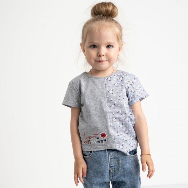1048 футболка детская серая на девочку 1.5-3,5 года (3 ед. размеры:86.92.96 ) Маленьке сонечко: артикул 1121525