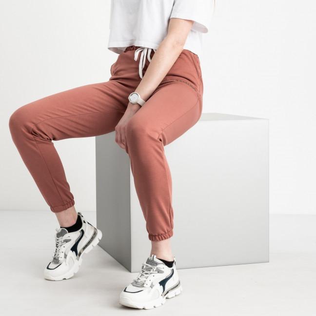 1433-3 терракот женские спортивные брюки из двунитки (4 ед. размеры: S.M.L.XL) Спортивные штаны: артикул 1120188