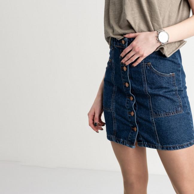 2015-1 Ponza юбка джинсовая на пуговицах синяя котоновая (6 ед. размеры: 34/2.36/2.38/2) Ponza: артикул 1119906