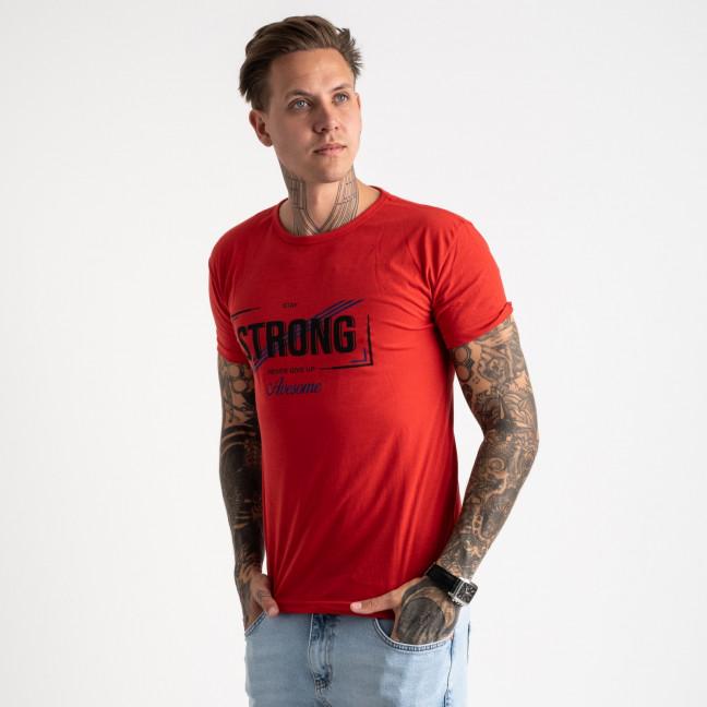 2612-3 красная футболка мужская с принтом (4 ед. размеры: M.L.XL.2XL) Футболка: артикул 1120968