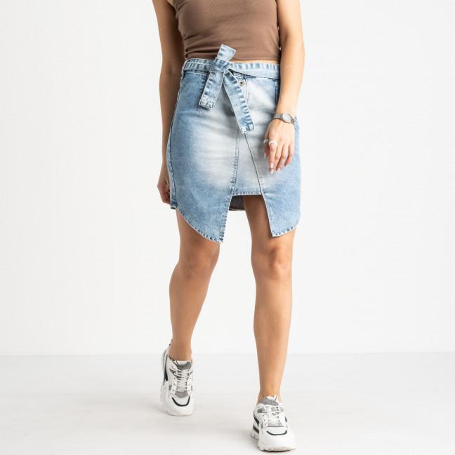 E 0056-23 ONDI юбка женская голубая котоновая (3 ед. размеры: 38.40.42) Ondi: артикул 1120080-1