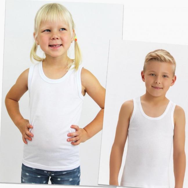 60207-98 майка детская белая на ребенка от 1-го года до 4-х лет (6 ед. размеры: 80/4.98.104) Маленьке сонечко: артикул 1123273