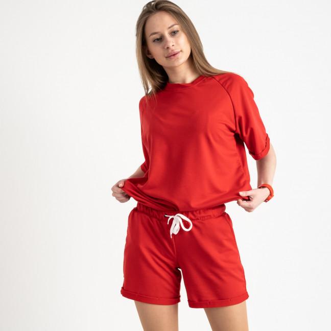 1445-9 Mishely красный женский спортивный костюм с шортами (4 ед. размеры: S.M.L.XL) Mishely: артикул 1121962