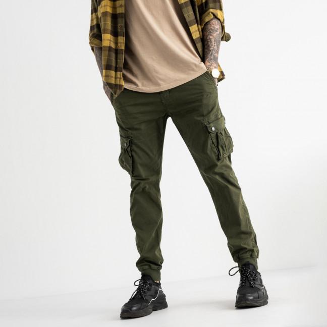 6510-22 хаки Caleb брюки карго мужские батальные стрейчевые (5 ед. размеры: 32.34.36.38.40) Caleb: артикул 1114476