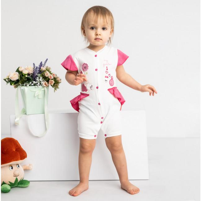 17069 розовый комбинезон на девочку 1-9 мес. (6 ед. размеры: 62.62.68.68.74.74) Emotion kids: артикул 1118185
