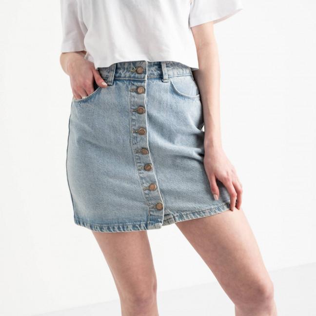 0043-1 Arox юбка джинсовая на пуговицах голубая котоновая (3 ед. размеры: 34.38.40) Arox: артикул 1118983-1