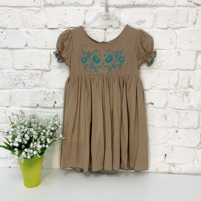 0264 платье мокко на девочку 1-3 года (3 ед. размеры: 80.92.104) Маленьке сонечко: артикул 1121512