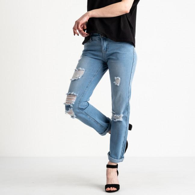 0062 Jushioumfiva джинсы женские голубые котоновые ( 6 ед. размеры: 25.26.27.28.29.30) Jushioumfiva: артикул 1118823
