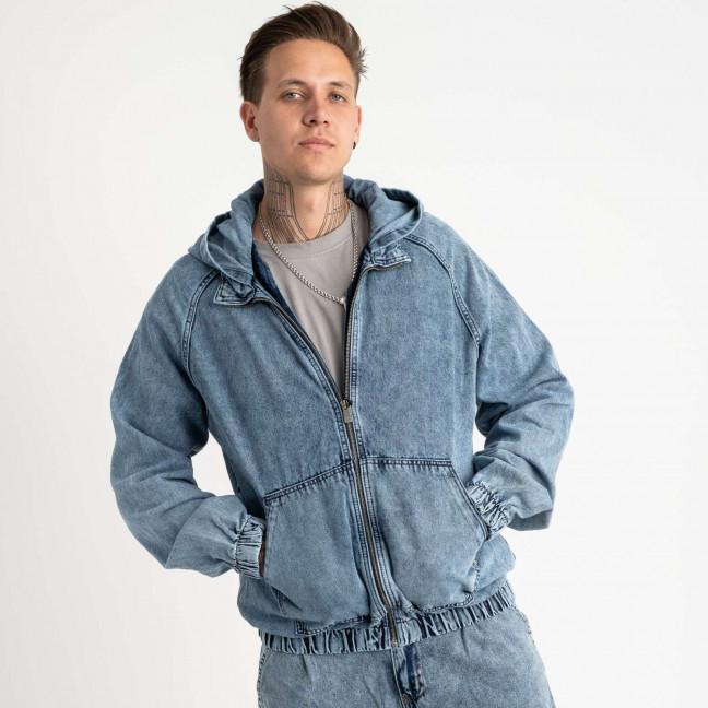0028-4 In Yesir куртка джинсовая голубая котоновая (6 ед. размеры: S.M.L/2.XL.XXL) In Yesir: артикул 1121442