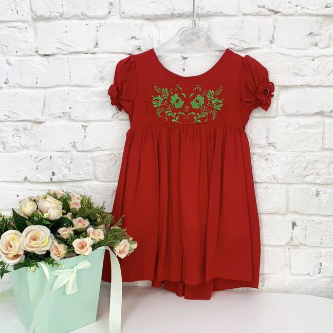 0264-2 платье красное на девочку 1-3 года (3 ед.размер: 80.92.104) Маленьке сонечко: артикул 1121514