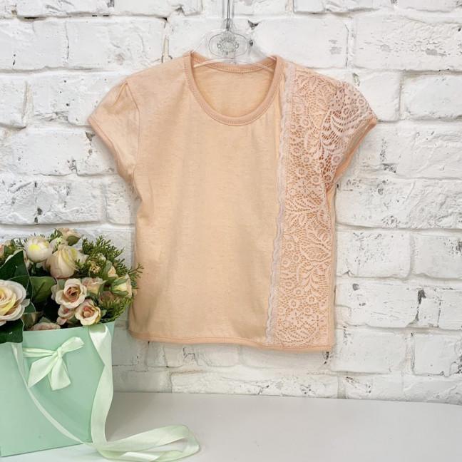 1044-2 футболка хлопковая на девочку 3-5 лет (3 ед. размеры:98.104.110) Маленьке сонечко: артикул 1121815