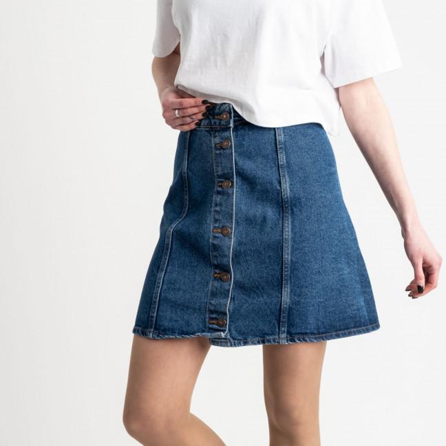 3082 юбка джинсовая на пуговицах синяя котоновая (8 ед. размеры: 24.24.26.26.28.28.30.30) Юбка: артикул 1118967