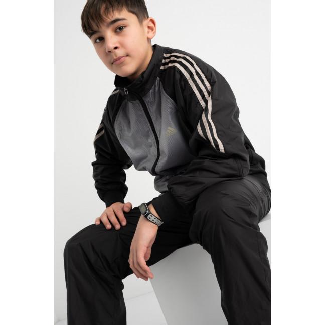 22010-3 спортивный костюм из плащевки подростковый на мальчика 8-13 лет (5 ед. размеры: S.M.L.XL.2XL) Спортивный костюм: артикул 1117743