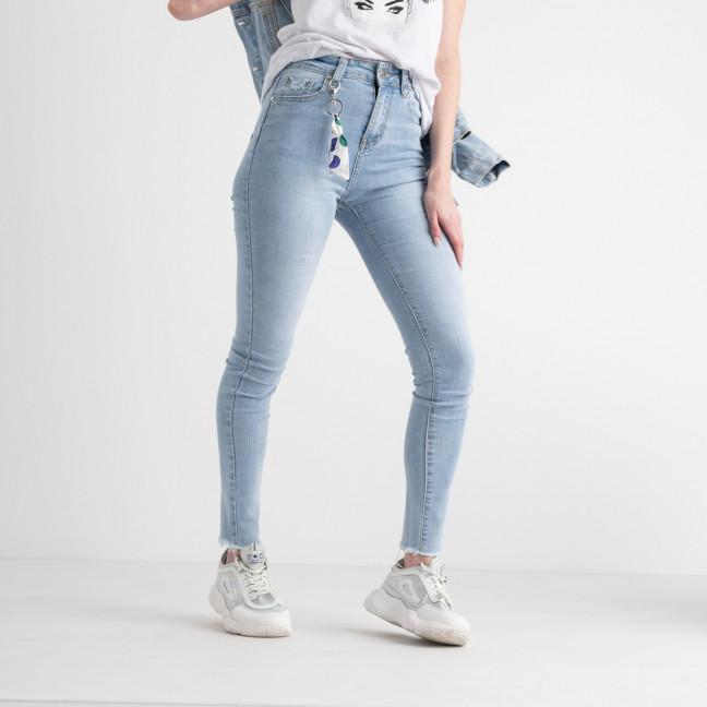 0662 New Jeans американка голубая стрейчевая  (6 ед. размеры: 25.26.27.28.29.30) New Jeans: артикул 1117680
