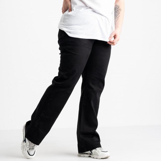 11979 Lafeidina джинсы черные батальные стрейчевые (6 ед. размеры: 34.35.36.37.38.40) Lafeidina: артикул 1121660