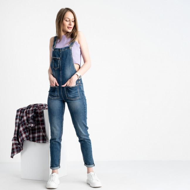 0307-1 Relucky комбинезон джинсовый голубой стрейчевый (6 ед. размеры: 25.26.27.28.29.30)  Relucky: артикул 1121947