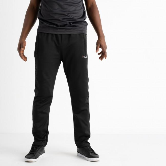 16406-1 черные батальные спортивные брюки из двунитки (4 ед. размеры: 56.58.60.62) Спортивные штаны: артикул 1121316