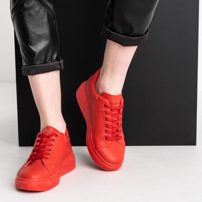 271020-102 красные кроссовки женские из экокожи (10 ед. размеры: 36.37.37.38.38.39.39.40.40.41) Кроссовки: артикул 1119474