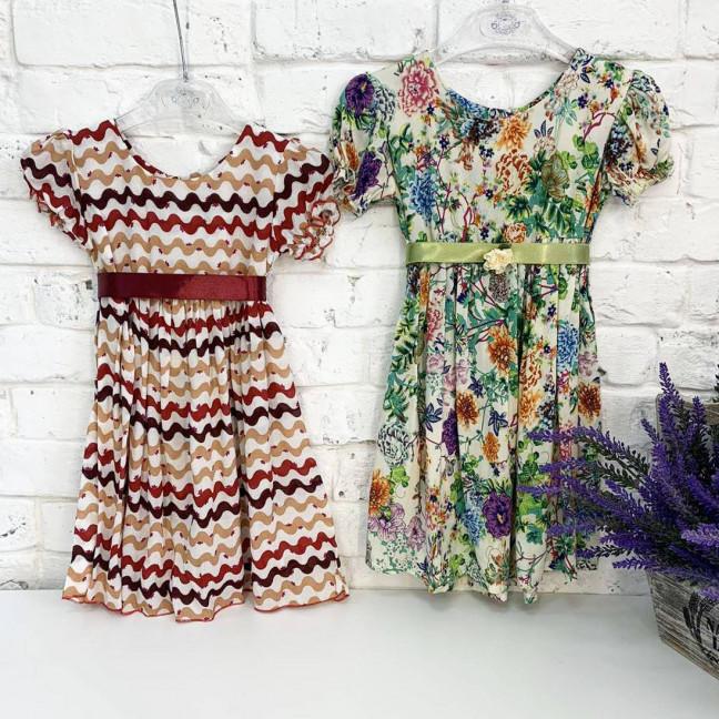 0007-95 платье микс 2-х цветов на девочку 1-4 года (3 ед. размеры: 80.92.104) Маленьке сонечко: артикул 1121811