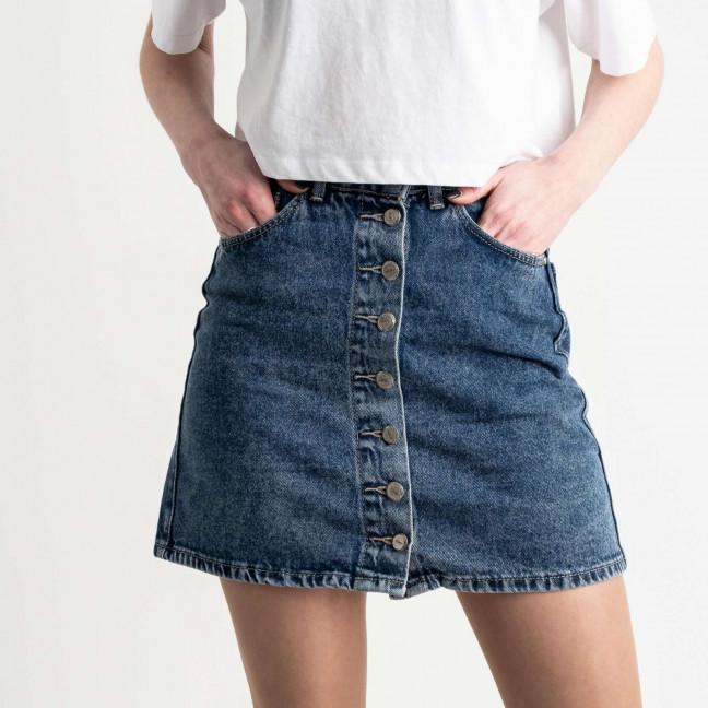 0067 Arox юбка джинсовая на пуговицах синяя котоновая (4 ед. размеры: 34.36.38.40) Юбка: артикул 1118969