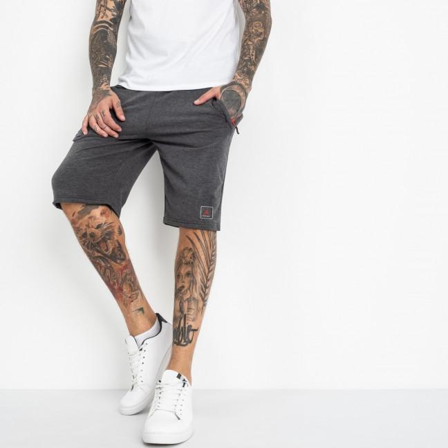 1103-6 серые спортивные шорты мужские (5 ед. размеры: 46.48.50.52.54) Шорты: артикул 1120417