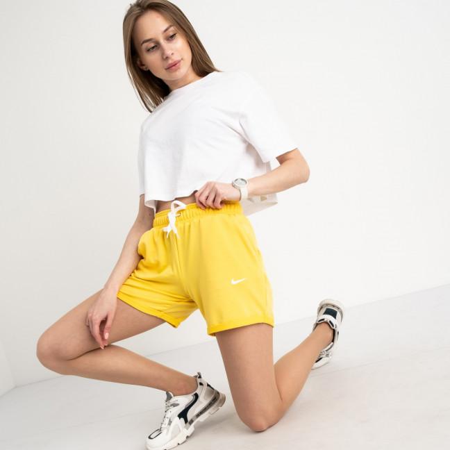 1422-3 Mishely шорты женские желтые из двунитки (4 ед. размеры: S.M.L.XL) Mishely: артикул 1122383