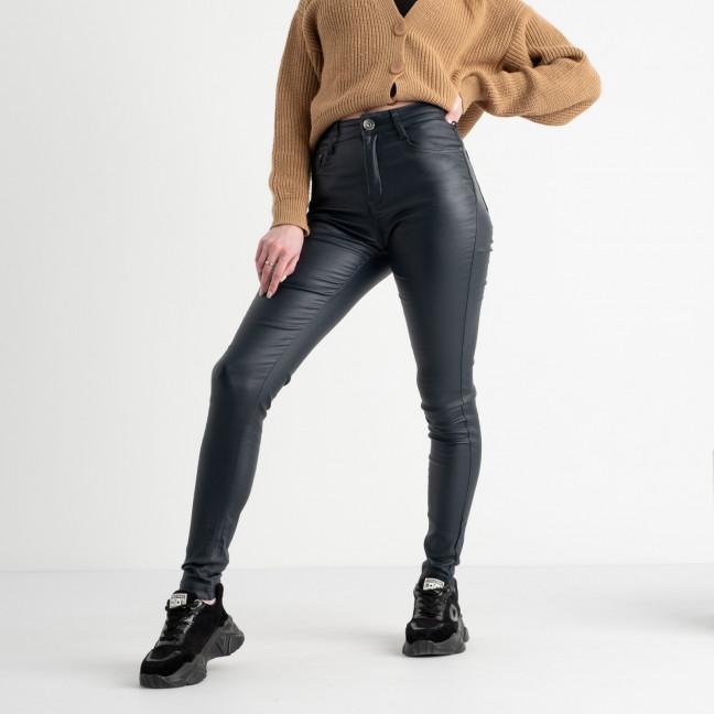 3516-1 Gallop темно-синие брюки женские из экокожи на тонкой байке (6 ед. размеры: 34.36.38.38.40.42) Gallop: артикул 1117506