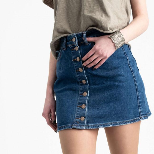 0590-Etek Arox юбка джинсовая на пуговицах темно-синяя стрейчевая (4 ед. размеры: 34.36.38.40) Arox: артикул 1105539