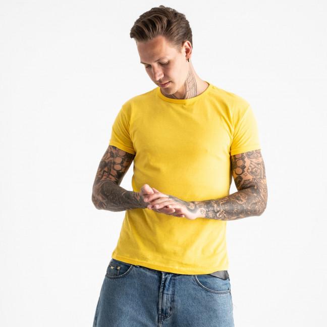 2600-6 желтая футболка мужская (4 ед. размеры: M.L.XL.2XL) Футболка: артикул 1120878