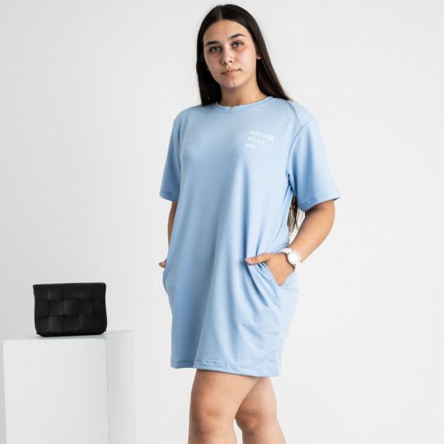 5515-5 Mishely туника женская голубая из двунитки (4 ед. размеры: 46.28.50.52) Mishely: артикул 1123222