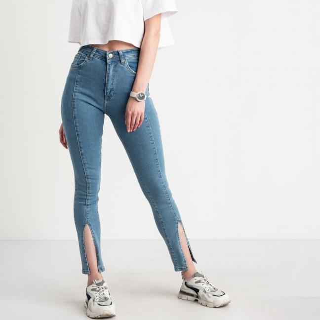 0808-1 Plus Denim джинсы голубые с разрезом стрейчевые (4 ед. размеры: 34.36.38.40) Plus Denim: артикул 1124469