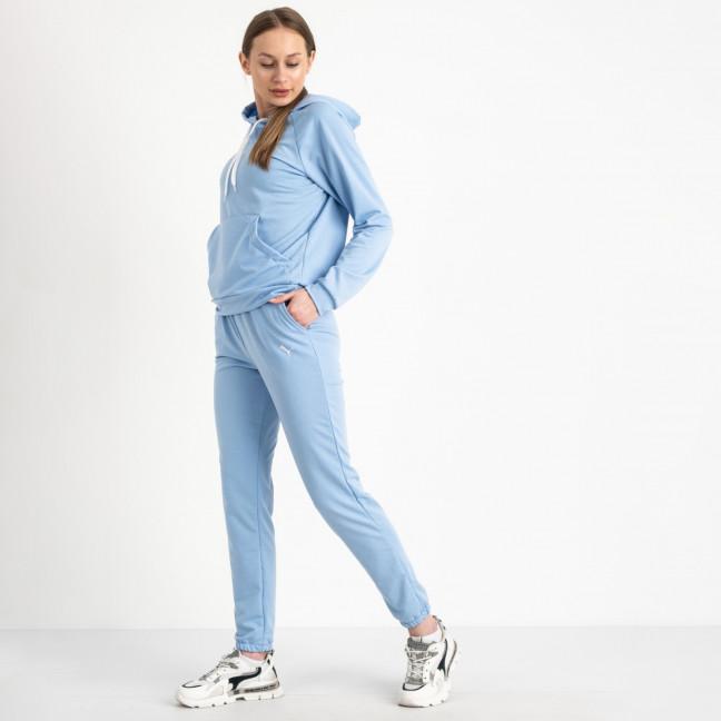 1467-24 Mishely голубой женский спортивный костюм из двунитки (4 ед. размеры: S.M.L.XL) Mishely: артикул 1121486