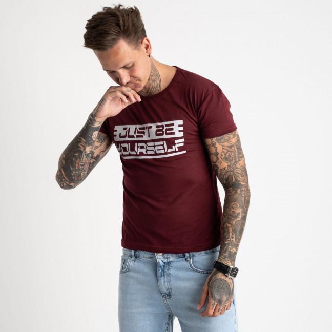 2620-9 бордовая футболка мужская с принтом (4 ед. размеры: M.L.XL.2XL) Футболка: артикул 1121053