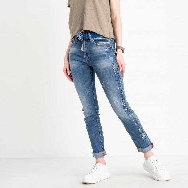 8202 Vanver джинсы женские голубые стрейчевые ( 6 ед. размеры: 25.26.27.28.29.30) Vanver: артикул 1122246