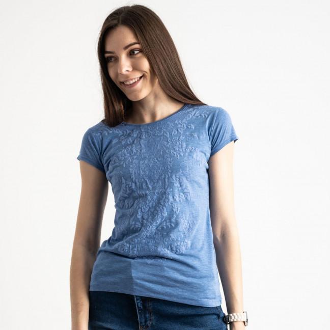 2589-9 Geso синяя футболка женская с принтом (4 ед. размеры: S.M.L.XL) Geso: артикул 1119245