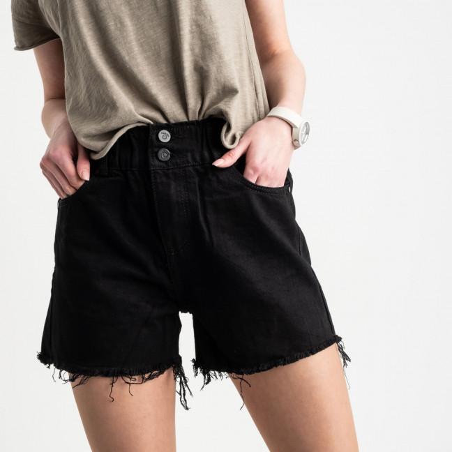 0707 New Jeans шорты джинсовые черные котоновые (6 ед. размеры: 25.26.27.28.29.30) New Jeans: артикул 1121479