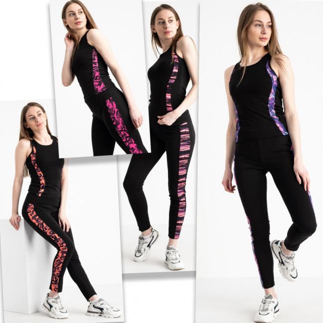 0200 T фитнес-костюм женский стрейчевый микс цветов (4 ед. размеры: S-M/2, L-XL/2) Без выбора цветов Фитнес-костюм: артикул 1120240
