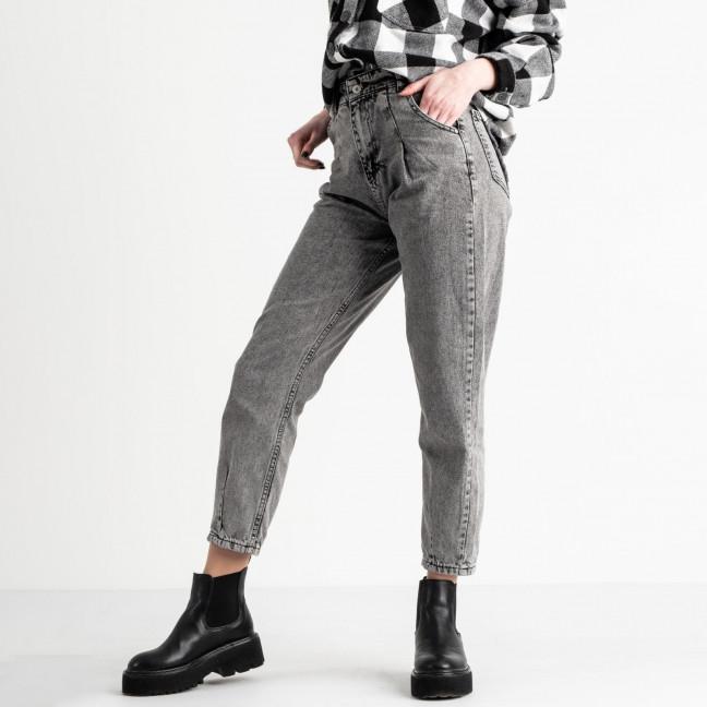 2151-2 MOM джинсы-баллоны серые котоновые (4 ед. размеры: 26.28.30.32) MOM: артикул 1118569-1