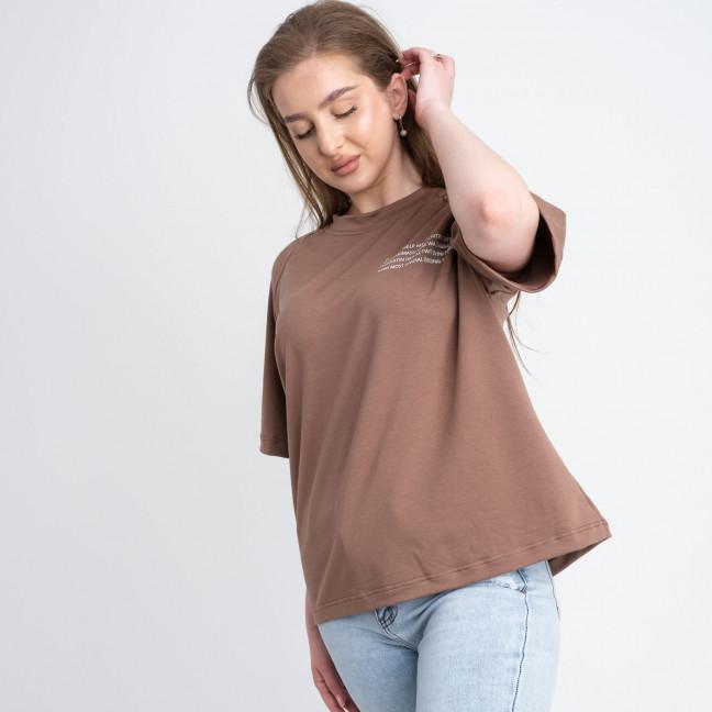 2220-9 Mishely футболка мокко женская батальная из двунитки ( 4 ед. размеры: 50.52.54.56) Mishely: артикул 1122673