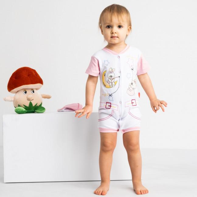 17062 розовый комплект (комбинезон+шапочка) на девочку 1-9 мес. (6 ед. размеры: 62.62.68.68.74.74) Emotion kids: артикул 1118182
