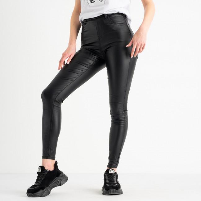 0138 Trang брюки женские черные стрейчевые с пропиткой под кожу (5 ед. размеры: 34.36.38.38.40) Trang: артикул 1117505