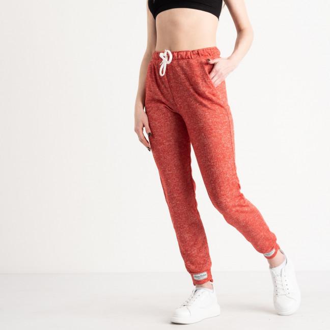 1420-4 красные спортивные штаны женские из двунитки (4 ед. размеры: S.M.L.XL) Спортивные штаны: артикул 1119075
