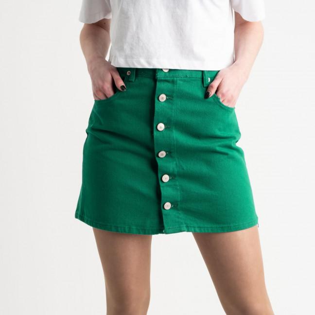 2854-3 XRay юбка на пуговицах зеленая котоновая (6 ед. размеры: 34.34.36.36.38.40) Юбка: артикул 1118956