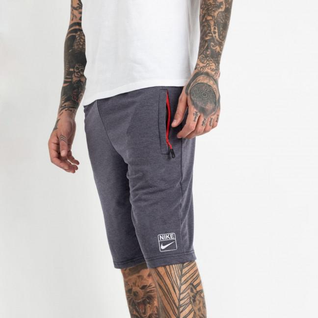 1106-7 индиго спортивные шорты мужские (5 ед. размеры: 46.48.50.52.54) Шорты: артикул 1120423
