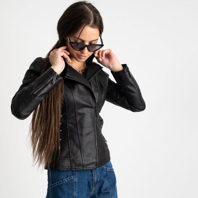 2009 куртка-косуха черная женская из кожзама (5 ед. размеры: S.M.L.XL.XXL)  Куртка: артикул 1123230
