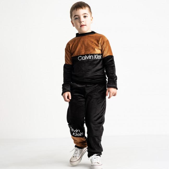 1440-2 коричневый спортивный костюм велюровый на мальчика 6-9 лет (4 ед. размеры: 116.122.128.134) отправка заказов 13.05 Спортивный костюм: артикул 1119497