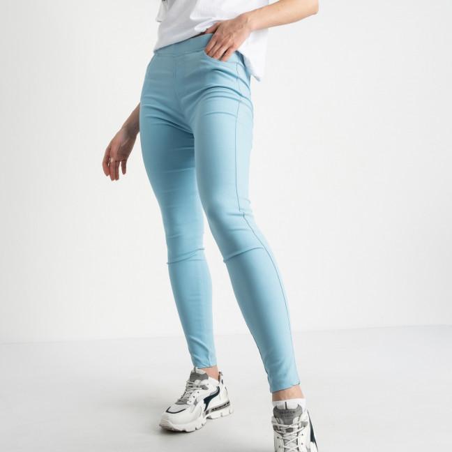 8039-9 Yimeite светло-голубые брюки полубатальные женские стрейчевые (6 ед. размеры: 28.29.30.31.32.33) Yimeite: артикул 1121609